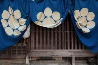 長崎の町家の祭りの飾り