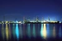 茨城県 鹿島臨海工業地帯の夜景