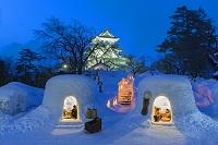 秋田県 横手城のかまくら