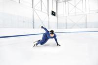 スピードスケートの練習