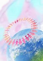 地球と手をつなぐ子供たちの輪