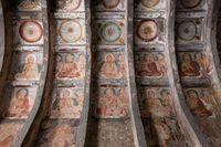 アジャンタ石窟 第10窟 天井壁画 アジャンタ インド