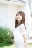 髪の美しい日本人女性