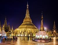 ミャンマー ヤンゴン シュエダゴン・パゴダ 夜明け