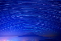 山梨県 富士山と星の日周運動