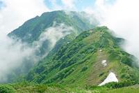 富山県 中大日岳(手前)と奥大日岳