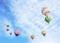 空を飛ぶ様々な気球
