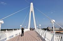 台湾 淡水、漁人碼頭の情人橋