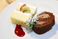 ブライダルイメージ 分けられたウェディングケーキ