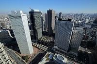 東京都 都庁より新宿高層ビル群