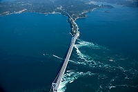 鳴門の渦潮 鳴門海峡 と大鳴門橋