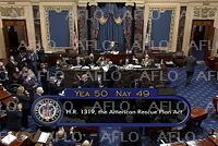 新型コロナ追加対策法案 米上院で可決