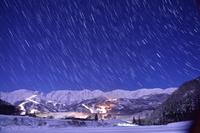 長野県 星降る夜の白馬村