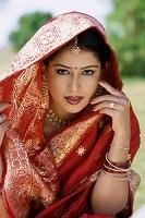 インド 民族衣装の女性