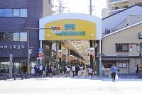 京都府 寺町商店街の御池通出入口