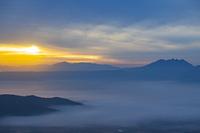 熊本県 朝の阿蘇山