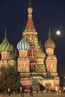 ロシア モスクワ 赤の広場とワシリー寺院