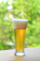オープンデッキでのビール