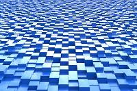 一面に並ぶ立体の四角形 CG