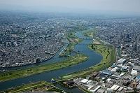 埼玉県 荒川(岩淵水門と新荒川大橋付近)