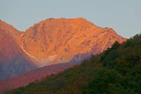長野県 早朝の杓子岳