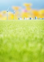 草原と風力発電
