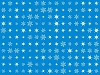 整列するたくさんの雪の結晶
