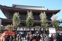 神奈川県 川崎大師正月風景