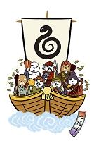 宝船に乗る七福神 イラスト
