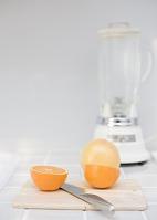 オレンジとミキサー