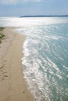 山口県 角島大橋の砂浜