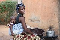 アフリカの親子