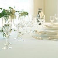 グラスとテーブルコーディネート