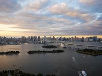 東京都 お台場から東京タワー方面望む