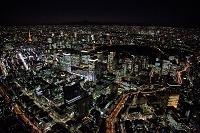 東京都 夜の日本橋周辺より東京駅 銀座 東京タワー方面