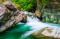 高知県 安居渓谷 安居川
