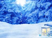 雪の森のランタン