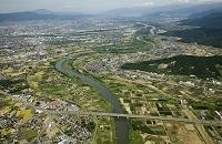 長野県 川中島古戦場と千曲川