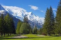 フランス ゴルフ場とシャモニー