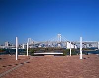 東京都・臨海副都心 お台場よりレインボーブリッジ