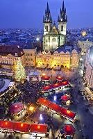 チェコ プラハ 旧市街広場 クリスマスマーケット