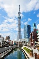 東京都 西十間橋から見た東京スカイツリー