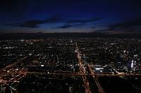 あべのハルカス展望台から望む大阪の夜景