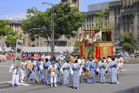 京都府 祇園祭(後祭山鉾巡行) 鯉山の方向転換