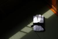 畳の上の柔道着