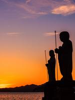 島根県 宍道湖の夕暮れ