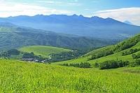長野県 霧ケ峰高原よリ八ケ岳と富士山遠望