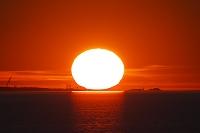 北海道 サロマ湖の日没