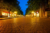 中国 夜の石畳