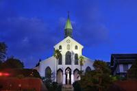 長崎県 ライトアップの大浦天主堂